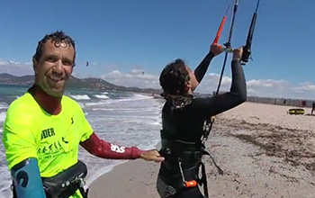 cours coaching plage kitesurf var